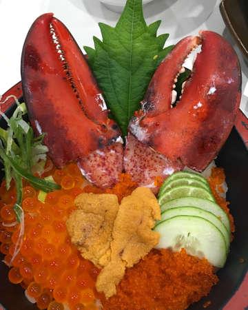 Lobster luxury recipe on dinner Standard-Bild