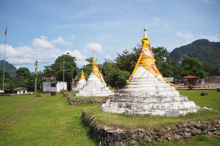 Three Pagodas Pass is a pass in the Tenasserim Hills on the border between Thailand and Burma