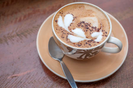 Hot Coffee art motifs heart Standard-Bild