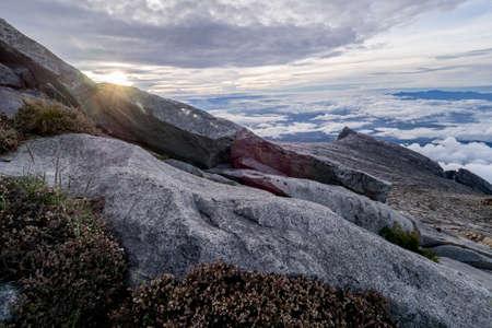 Mount Kota-Kinabalu in early morning with South's Peak