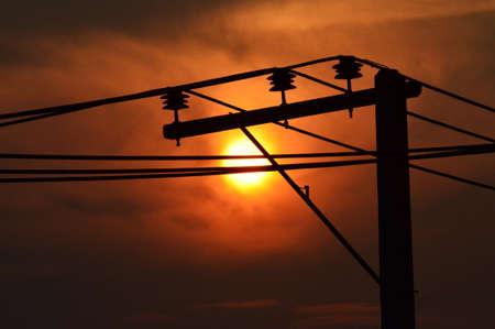 telegraaf: Telegraph zonsondergang