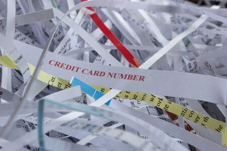 shredding: Image showing importance of shredding confidential information Stock Photo