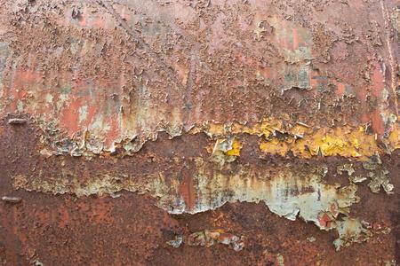 corrode: Rusty metal
