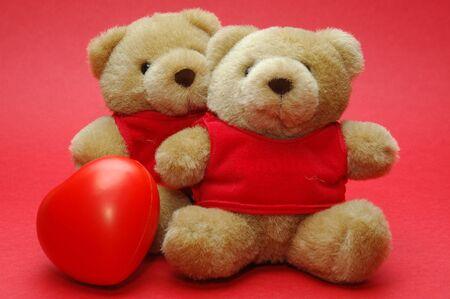 double bear with a hearts photo photo