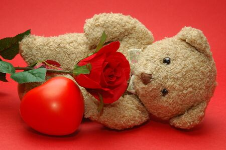 Bear photo, good for valentine days and wall paper Stock Photo - 2410369