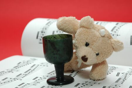 bear photo with musical score Stock Photo - 2416234