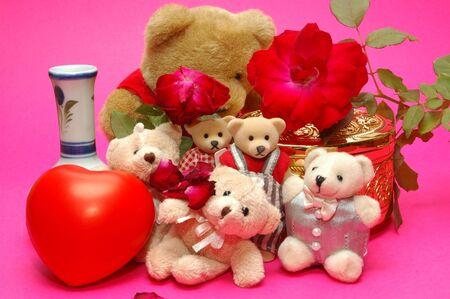 bear photo with many items photo