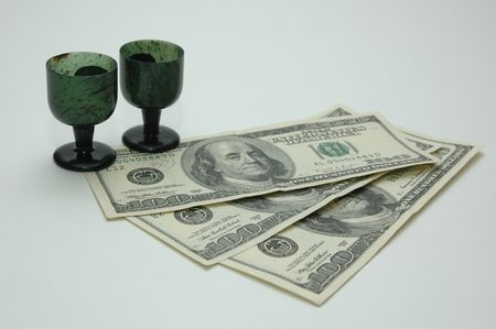 money with two cup photo