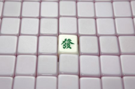 chinese mahjong with the word will of luck photo