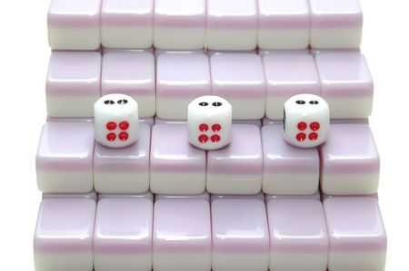 chinese mahjong as stair, number 4 photo