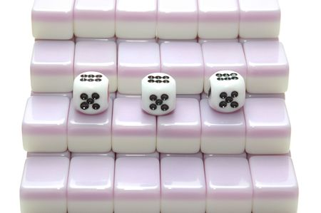 chinese mahjong as stair, number 5 photo
