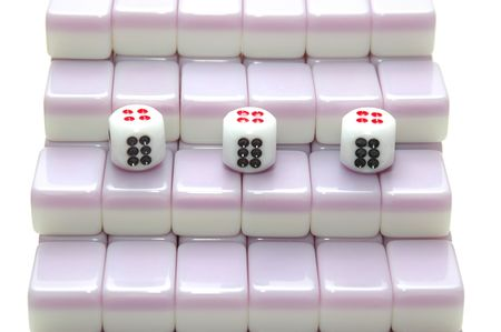 chinese mahjong as stair, number 6 photo