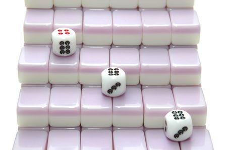 chinese mahjong as stair photo