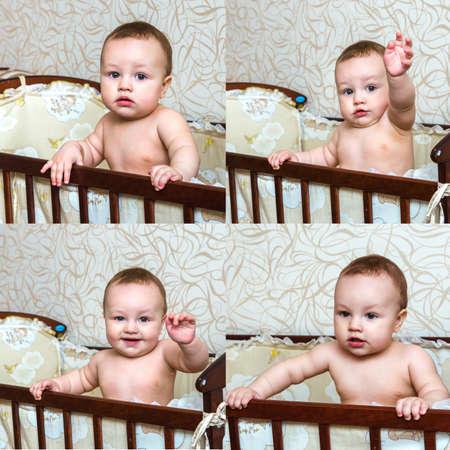 10 ヶ月の赤ちゃんがベビーベッドでは