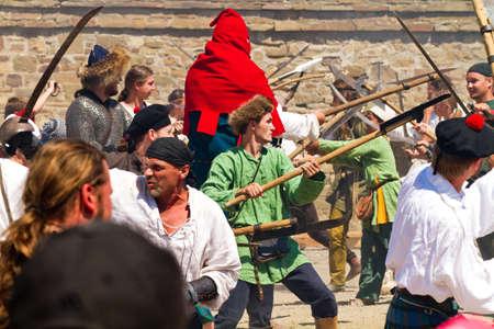 sudak: Historical Festival Genoa Helmet in Sudak stronghold