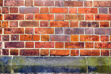 Red Brick Wall Close-up Background.