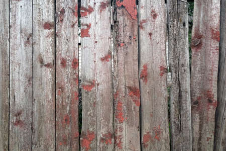 Texture of wooden fence, vertical logs frame background 写真素材