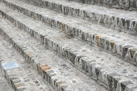 Cobblestone steps close-up