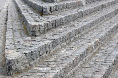 Cobblestone steps close-up 写真素材 - 130715453