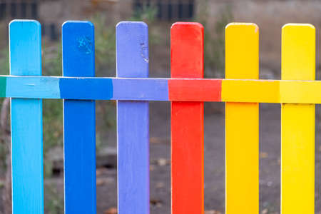 Part of wooden in rainbow color