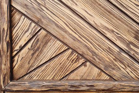 Abstract background of textured brown wooden door. Loft design of modern building. 写真素材