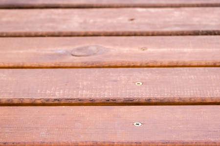 Texture of old wooden brown painted bridge floor abstract background. 写真素材