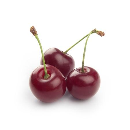 Isoletad bunch of cherries on the white Reklamní fotografie