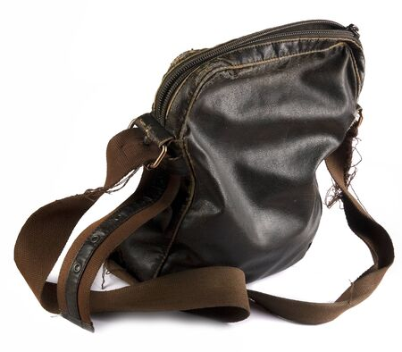 threadbare: Threadbare leather brown bag