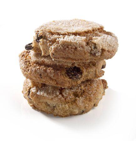 galletas de jengibre: Tres galletas de jengibre aislados en el blanco