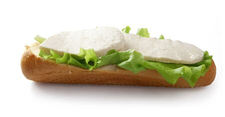 brine: Sandwich with lettuce and brine cheese