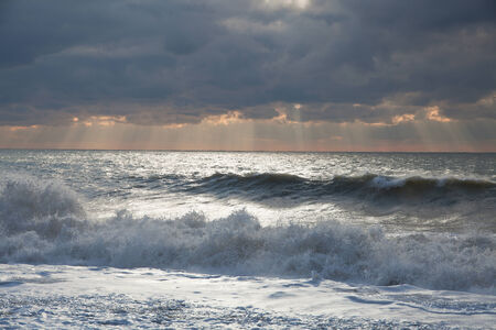 wheater: The coast of Black Sea during a storm