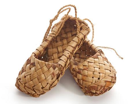 bast: Isolated bast shoe on the white background
