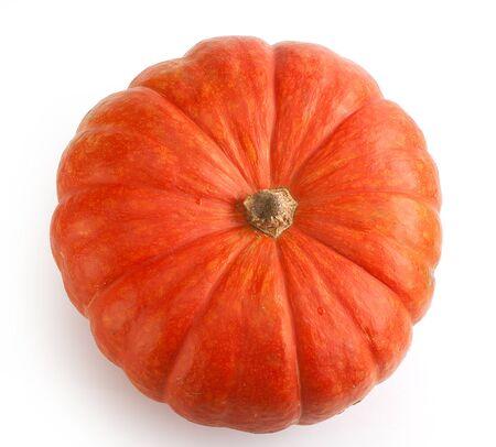 calabaza: calabaza naranja aislado en el fondo blanco