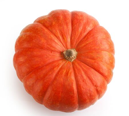Isolated orange pumpkin on the white background Stock Photo