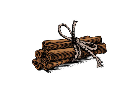 Tied up a bunch of cinnamon