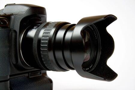 reflex digital camera on a white background Stock Photo - 8781511