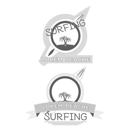 surfing beach: Surfing Beach  Illustration