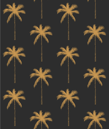 Seamless pattern palm tree background vector illustration. Perfect for invitations, greeting cards, wrapping paper, posters, fabric print. 일러스트