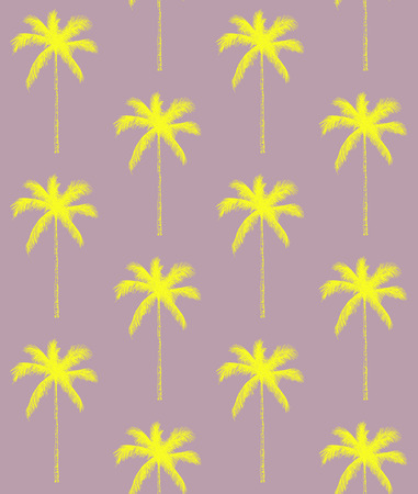 Seamless pattern palm tree background vector illustration. Perfect for invitations, greeting cards, wrapping paper, posters, fabric print. Ilustrace