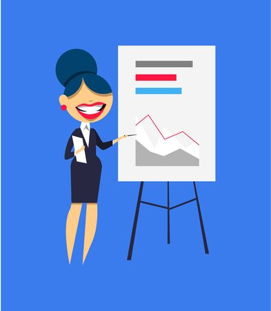 Set of business women characters flat design