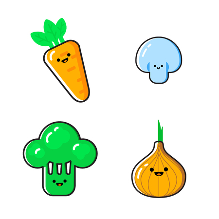 만화 야채 일러스트 세트