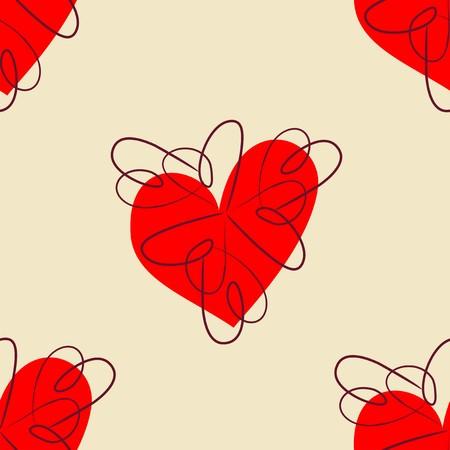 heart seamless pattern: Heart Seamless Pattern Illustration