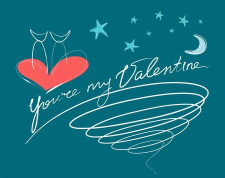 greating card: Youre My Valentine Card Illustration
