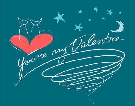 valentine card: Youre My Valentine Card Illustration
