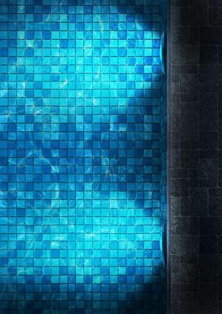 outdoor lighting: Swimming Pool Stock Photo