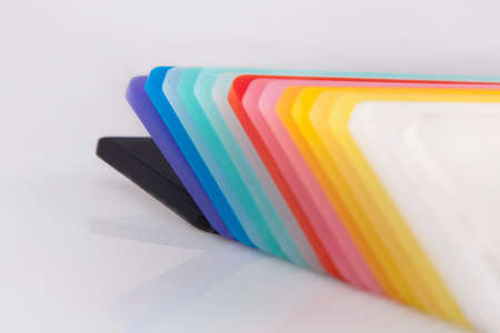 peal: Colored Acrylic Stock Photo