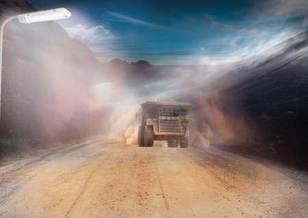 地域の鉱山景観