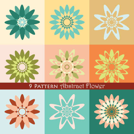 abstracts: 9 pattern abstract flower