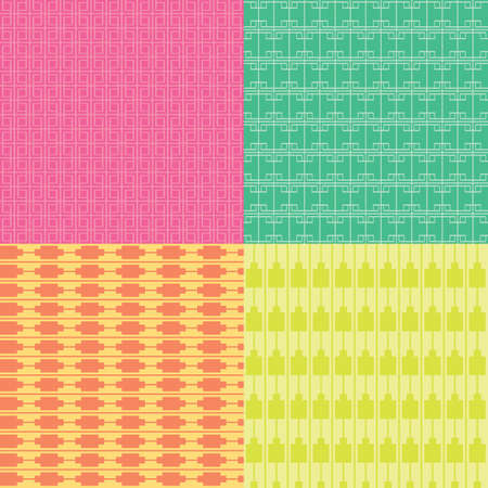 abstracts: Square Colorful Patterns