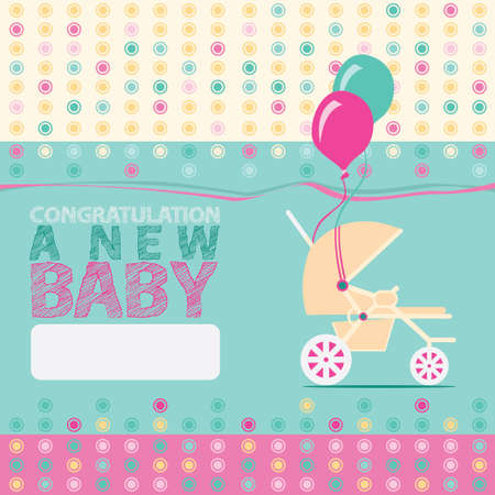 new born: Baby New Born Greeting Card